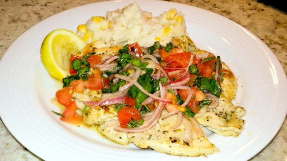 Grilled Lemon & Herb Chicken with Mash