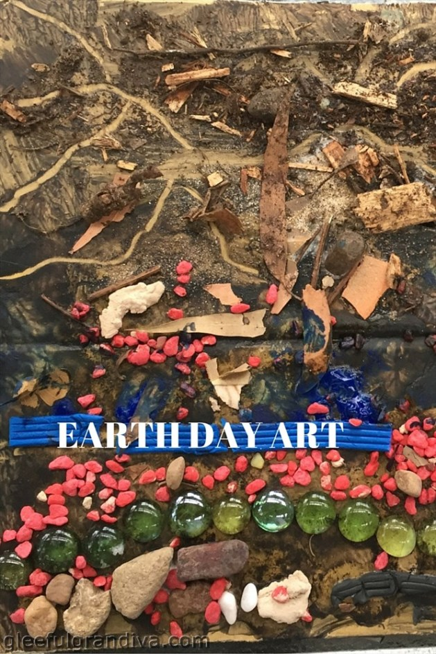 EARTH STRATA ART PICTURE