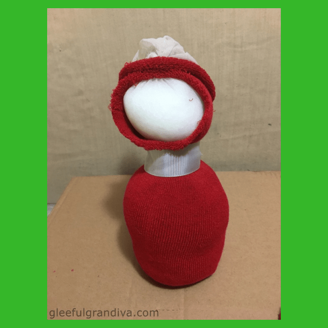 Santa from a sock picture