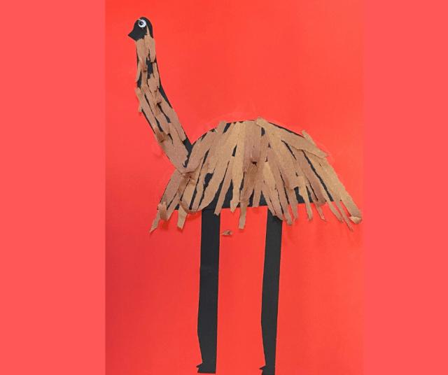 Aussie bird crafts - emu