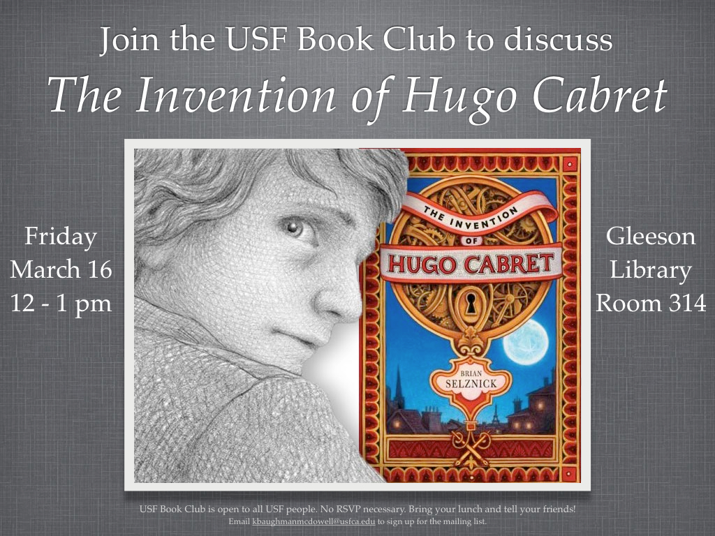 Usf Book Club The Invention Of Hugo Cabret Gleeson