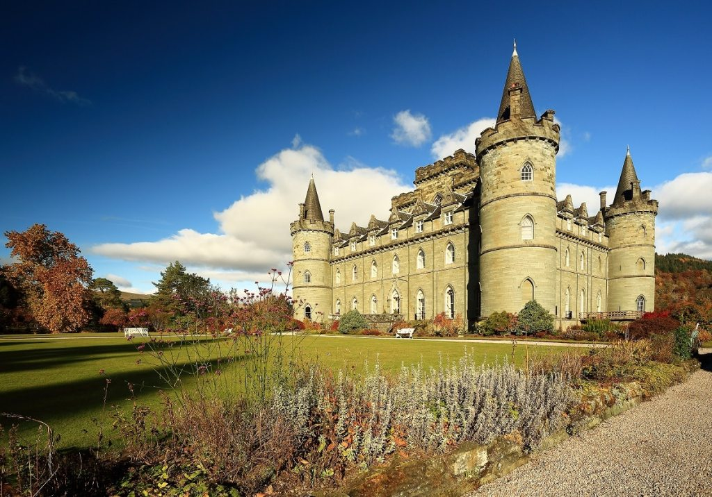 The castle and gardens at Inverary