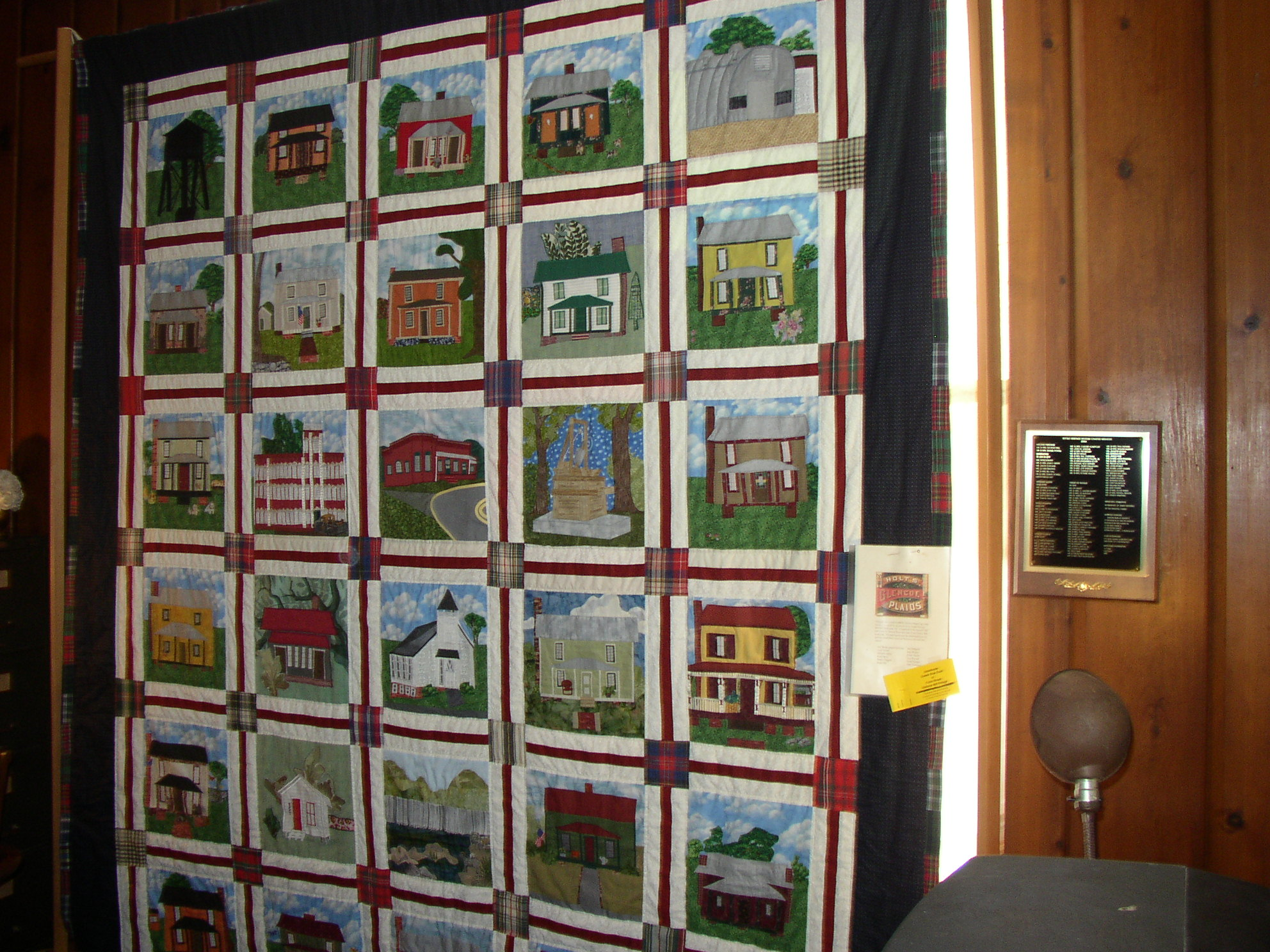 Glencoe quilt hanging at the Museum