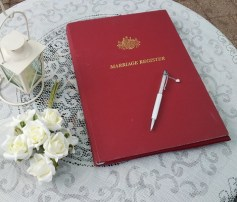 australian marriage register