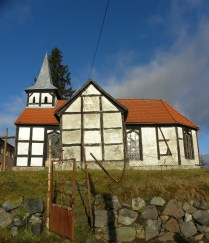 Kowalki Church--side view with fence