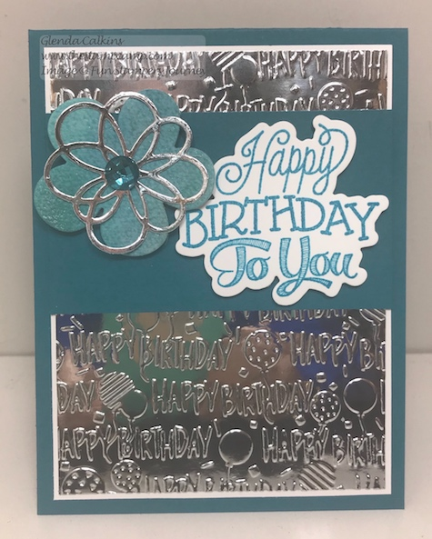 Celebration Script Bundle, Birthday Bash Embossing Folder, Fun Stampers Journey, glendasblog