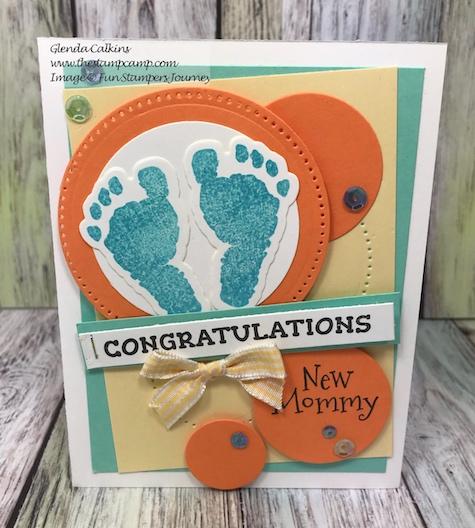 Baby Prints Bundle, Fun Stampers Journey, glendasblog, thestampcamp