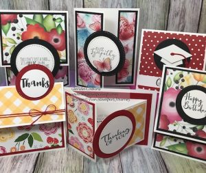 Sunday Adventure Prints, Inside & Out, Fun Stampers jOurney, glendasblog, thestampcamp