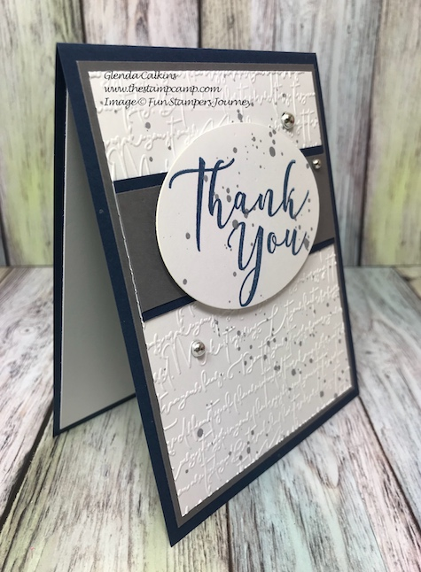 Many Thanks, Fun Stampers Journey, glendasblog, the stamp camp