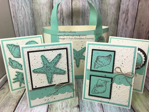 Beach Treasure Bundle, Fun Stampers Journey, glendasblog, the stamp camp