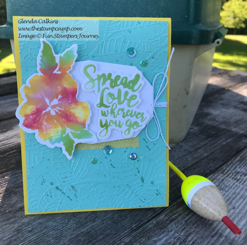 In the Tropics Bundle, Fun Stampers Journey, glendasblog, the stamp camp