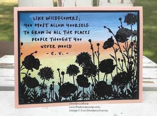 Wildflowers, Fun Stampers Journey, glendasblog, the stamp camp
