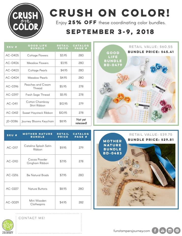 Crush on Color Promotion from Fun Stampers Journey
