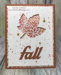 Fall Fun Card with Dies by Glenda Calkins