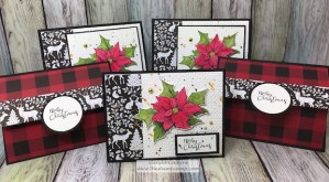 Christmas Sprig, Cozy Prints, Cozy Knit all from Fun Stampers Journey by Glenda Calkins