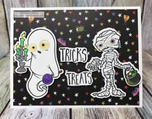 Pillow Die, Treat Holders, DIY, Papercrafting, Rubberstamping, #treatholders #Halloween
