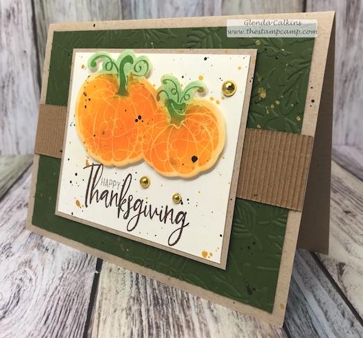 Martha's Pumpkins, Gather Together, FSJ, Fun Stampers Journey, glendasblog, the stamp camp