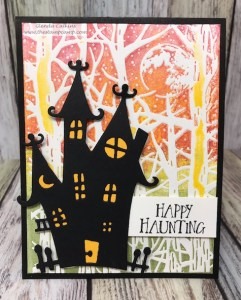 Spooksville Die and Spooky Moon Embossing Folder