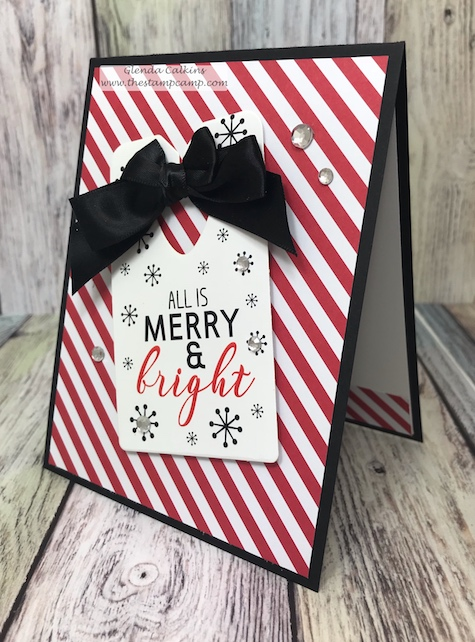 The Cozy Prints pair perfectly with the Cozy Tag set from Fun Stampers Journey.  Use the Bread Tag die to die cut out all your fun tags for cards or your gifts. #thestampcamp, #FSJ, #Spellbinders, #Christmas