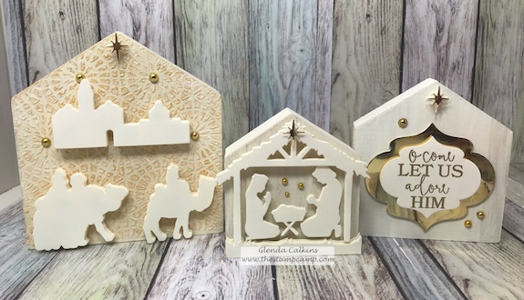 Adore him bundle with the House to Home trio makes the perfect holiday home decor' this Christmas. order through www.shop.thestampcamp.com #FSJ, #adorehim, #Christmas, #thestampcamp