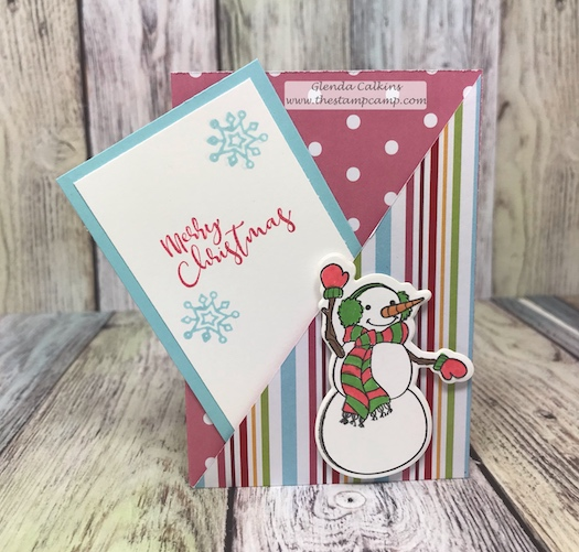 Aren't these Snowmen adorable?  They work perfectly on these 2 pocket gift card holders.  Details are on my blog www.thestampcamp.com #fsj, #giftcardholder, #thestampcamp, #christmas