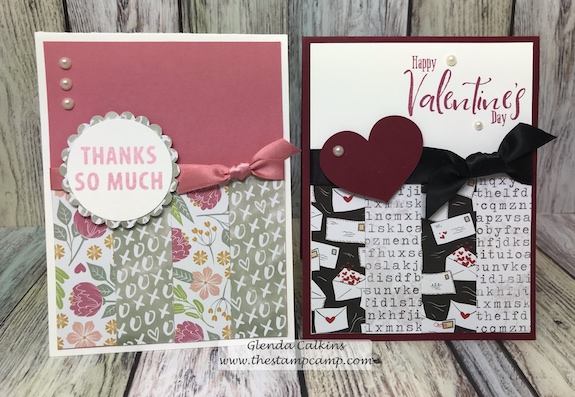 What do you do with those small left over strips of printed papers?  Do you trash them?  How about using them on sweet cards like these.  Printed papers from Fun Stampers Journey.  Details at www.thestampcamp.com #printedpapers #fsj #cards #crafts