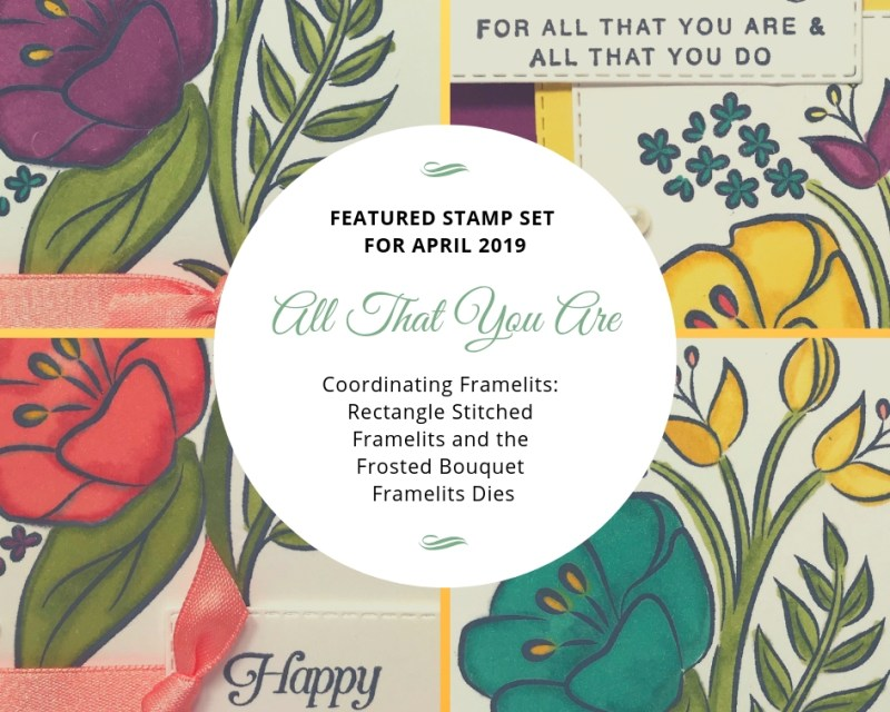 My featured stamp set for April is the All That You Are stamp set and I paired it with the Rectangle Stitched framelits and the Frosted Boquet Framelits dies from Stampin' Up!  The first bonus project for this month will be this gorgeous box to go with your 4 cards.  Details on my blog: www.thestampcamp.com #stampinup #thestampcamp #glendasblog #cardkit