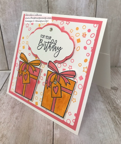 Here's a fun gift card holder created using the Painting with Shimmer Paint technique.  Details on my blog: www.thestampcamp.com #stampinup #thestampcamp #shimmerpaint #techniques