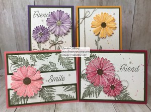 This is my featured stamp set for June it is the New Daisy Lane Bundle and I also added the Daisy punch. The bundle has the smaller Daisy punch in it. Details on my blog: www.thestampcamp.com #stampinup #thestampcamp #daisylane
