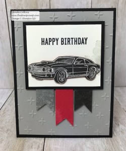 This is my featured stamp set for May Geared Up Garage from Stampin' UP! Great for Father's Day or Birthday's. Details on my blog: www.thestampcamp.com #garagegear #stampinup #thestampcamp #masculine #birthday