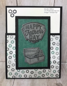 This is my featured stamp set for May Geared Up Garage. This card is a gift card holder; great for Father's Day or Birthday's. Details on my blog: www.thestampcamp.com #garagegear #stampinup #thestampcamp #masculine #giftcardholder