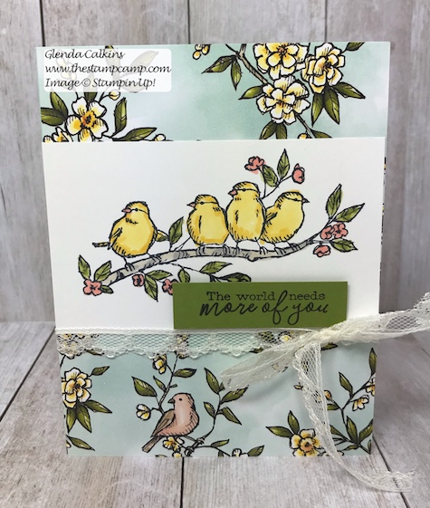 This is part of the Bird Ballad Suite from Stampin' Up! This suite of products is just that SWEET! Check out the details on my blog: https://wp.me/p59VWq-a8C #stampinup #thestampcamp #birdballad