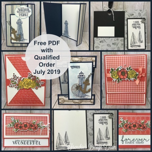 This is this month's Customer Appreciation PDF file grouping of projects. This is FREE with a min. $40.00 order and use the following hostess code. Details found on my blog here: https://wp.me/p59VWq-aba #stampinup #thestampcamp #cards #stamps