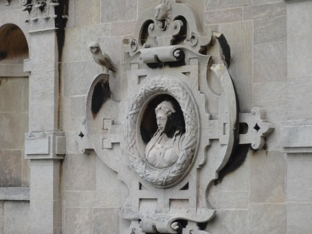 motif in stone decorating all external walls