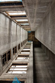 Construction Site Photography - Reinforced Concrete Core and Sliding Formwork