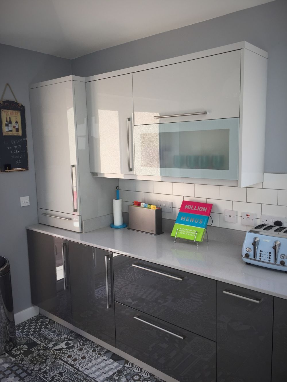 Inzo Painted High Gloss Two Tone Kitchen Glasgow