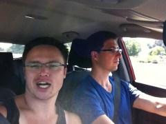 I amuse myself when Dan drives.