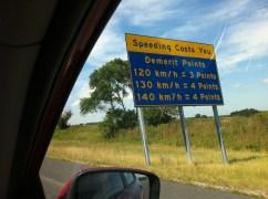 I think the speed limit was 100 km/hr