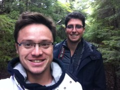 La Mauricie National Park. We got to wear our raincoats. This pleased me.