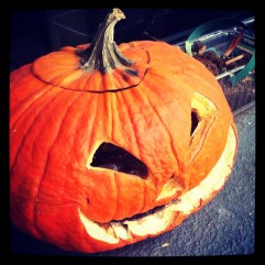 Jack Pumpkin Head is slowly rotting.