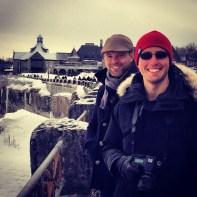 Rob and Dan at Niagara. 1 Mar 2014.