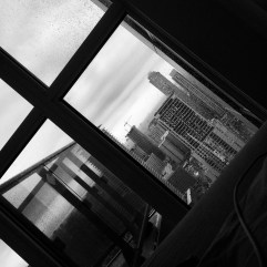 Toronto city view from my side of the bed.