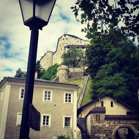 Salzburg Old Town. View of Fortress.