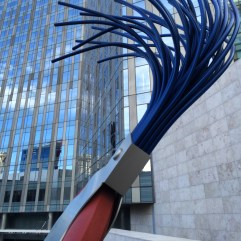 Typewriter Eraser, Scale X by Claes Oldenburg and Coosje van Bruggen.
