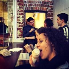 Icecream with family.