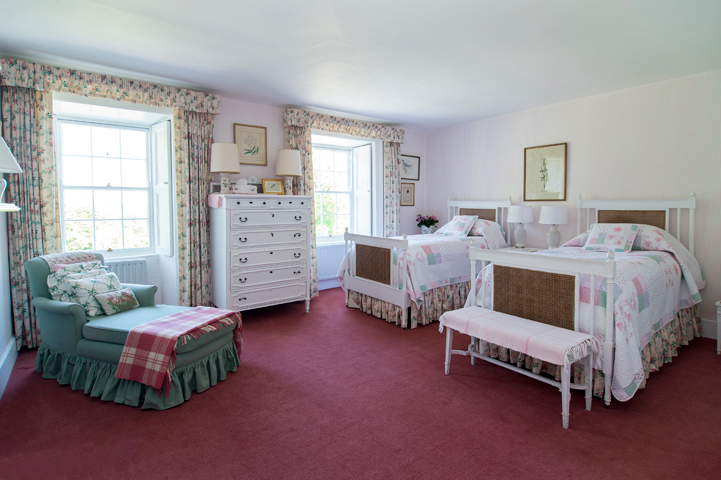 relax in the bedrooms at glenlohane estate kanturk