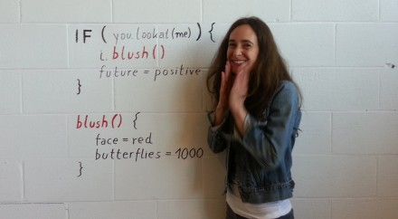 """writing the """"code"""" for """"blushing"""" on  a wall"""