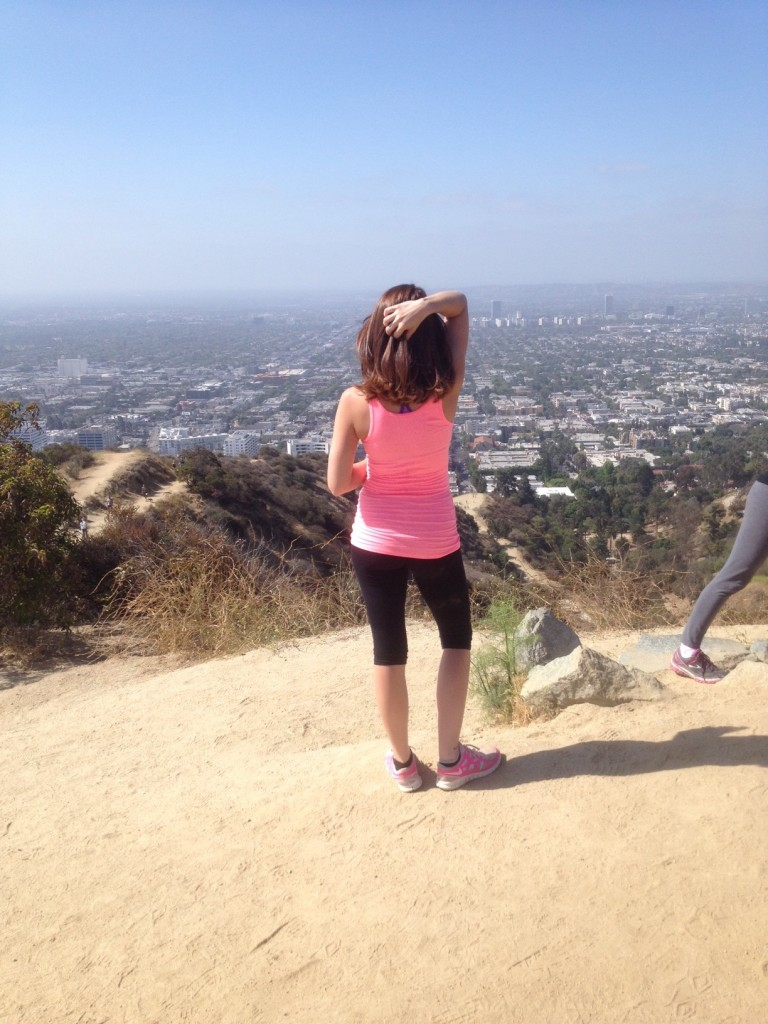 Griffith Park hiking trail overlooking the Los Angeles basin