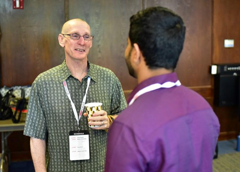 TEDxCSULB speaker John Bruna with Social Media Manager Abhishek Mb