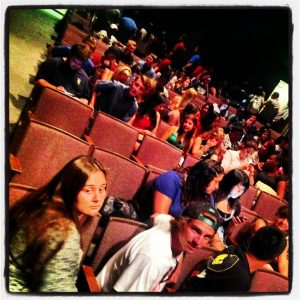 Fall Semester 2013. CSULB University Theater. First Day of Class. Lots of Students!